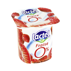LACTEL Yaourt 0% aux Fruits 125g